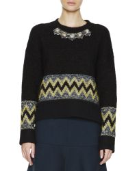 Marni Jewel Front Patterned Knit Sweater - Lyst