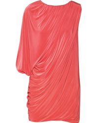 T-bags - Draped Stretch-satin Jersey Mini Dress - Lyst