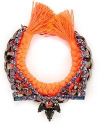 Joomi Lim - 'Rebel Romance' Crystal Chain Braid Bracelet - Lyst