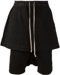 DRKSHDW by Rick Owens Shorts with Skirt - Lyst