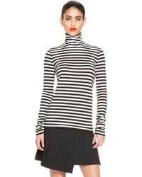 DKNY Stripe Turtleneck Tee - Lyst