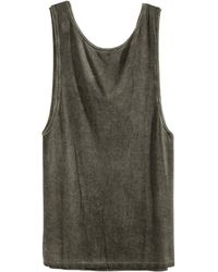 H&M Draped Sleeveless Top - Lyst
