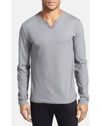 Kenneth Cole - Cotton Henley - Lyst