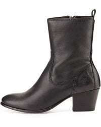 Frye Courtney Leather Short Boot - Lyst