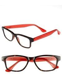 Isaac Mizrahi New York - 50mm Rectangular Reading Glasses - Lyst
