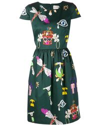 Mary Katrantzou Julie Print Dress - Lyst