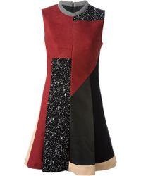 Proenza Schouler Patchwork Skater Dress - Lyst