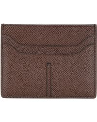 Tod's Stitched Embossed Leather Card Holder - Lyst