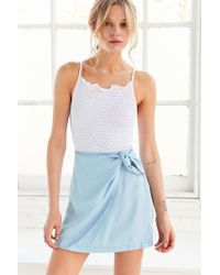 Kimchi Blue - Cassidy Chambray Wrap Skirt - Lyst