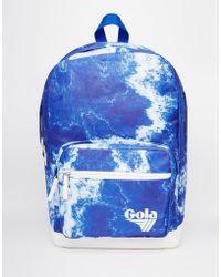Gola Lansbury Marble Backpack - Blue