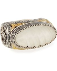 Konstantino - Carved Crystal East-west Ring - Lyst