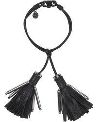 Dorothee Schumacher Tassel Addiction Tassle Bracelet - Black