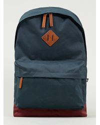 Topman Navy and Burgundy Backpack - Lyst
