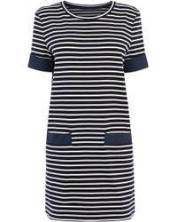 Oasis Chambray Pocket Shift Dress - Lyst