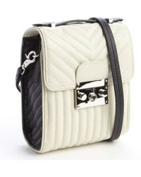 L.a.m.b. Cream Quilted and Patent Leather Camelia Shoulder Bag - Lyst
