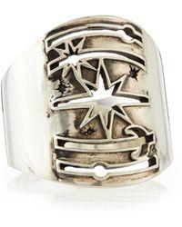 Pamela Love Galaxy Cutout Sterling Silver Ring silver - Lyst
