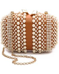 KOTUR Beaded Margo With Drop In Chain Whitenatural - Brown