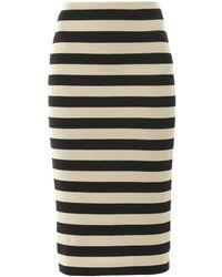 Burberry Prorsum Striped Pencil Skirt - Lyst