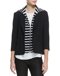 Veronica Beard Schoolboy Jacket With Detachable Dickey - Lyst