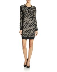 French Connection Zebra Print Sweater Dress - Lyst