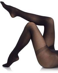 Saks Fifth Avenue Black Label Solid Opaque Tights - Black