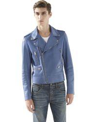 Gucci Leather Biker Jacket - Lyst