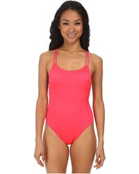Seafolly Shimmer Tank Maillot red - Lyst
