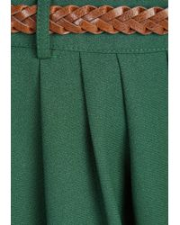 Hot & Delicious - Breathtaking Tiger Lilies Skirt In Stem Green - Lyst