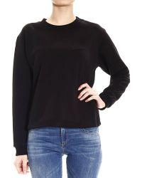 Balenciaga Sweater Knit Fleece O Crew-Neck With Logo Behind - Lyst