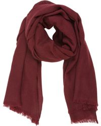 Barneys New York Red Cashmere Scarf - Lyst