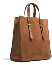 Coach Mercer Drafters Tote in Nubuck Leather - Lyst