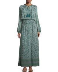 Talitha - Floral-Print Silk Maxi Dress - Lyst