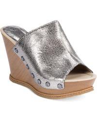 Kenneth Cole Reaction Swelling Platform Sandals - Metallic