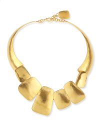Herve Van Der Straeten Yucata 24K Gold-Plated Collar Necklace gold - Lyst