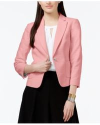 Cece by Cynthia Steffe - Cece Textured One-button Jacket - Lyst