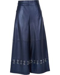 Tibi | Metal Rings On Leather High Waisted Nerd Pants | Lyst