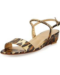 Stuart Weitzman Sweeper Demi-Wedge Sandal - Lyst