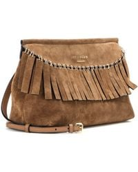 Burberry Prorsum - Suede Fringed Clutch - Lyst