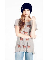 Wildfox Meet You There Hippie Crew Neck Tee - Lyst