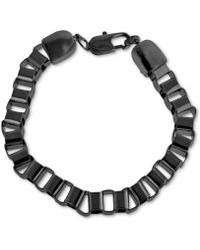 Marc Ecko | Blackplated Box Link Chain Bracelet | Lyst