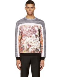 Carven Grey and Purple Forest Print Sweatshirt - Lyst