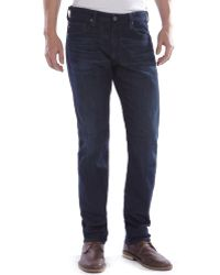 Ag Adriano Goldschmied Dark Wash Denim Matchbox Jeans - Lyst