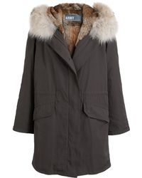 Yves Salomon Rabbit Fur Lined Parka - Lyst