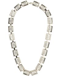 Topman Gold Rectangle Necklace - Lyst