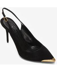 Alexander McQueen Pump Sling Back Heels - Black