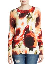 Haute Hippie Vanishing Floral Sweater - Lyst