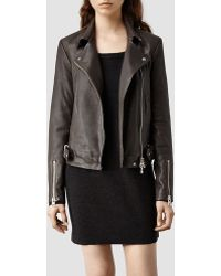 AllSaints Ayers Leather Biker Jacket - Lyst