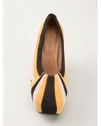 Minimarket - Striped Pleat Court Shoes - Lyst