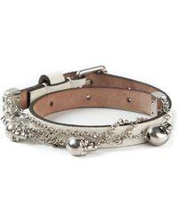 Alexander McQueen Skull Charm Bracelet - Lyst