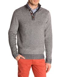 Tommy Hilfiger Blue Marl Contrast High-Neck Sweater - Lyst